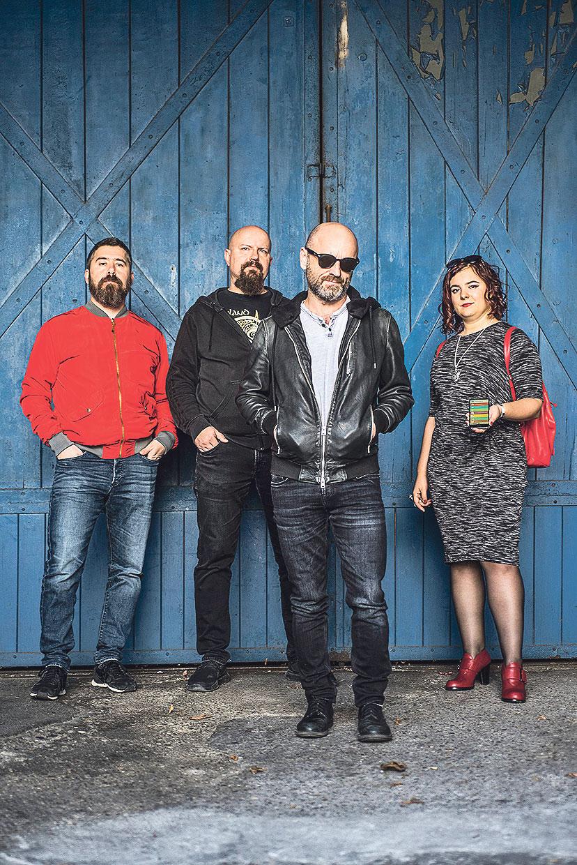 Tim koji stoji iza Pozitivnog koncerta: Sanjin Đukić, Zoran Subošić, Mile Kekin i Maja Erceg
