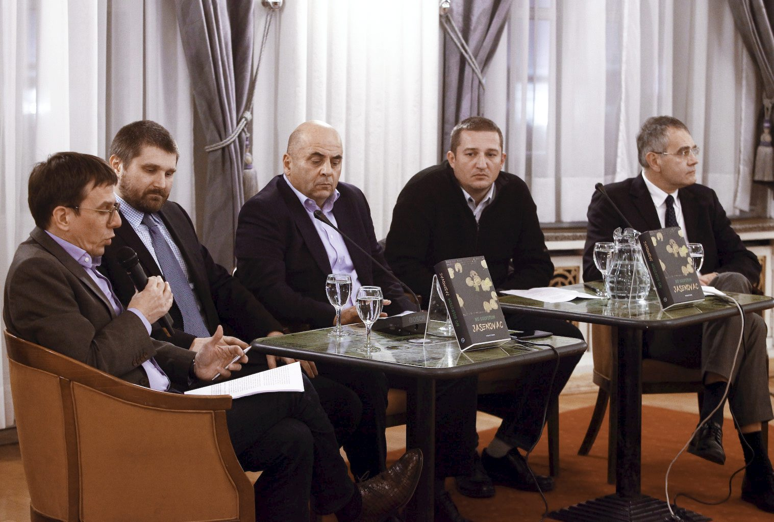 Na fotografiji: Seid Serdarević, Goran Hutinec, Ivo Goldstein, Đorđe Mihovilović, Vuk Perišić