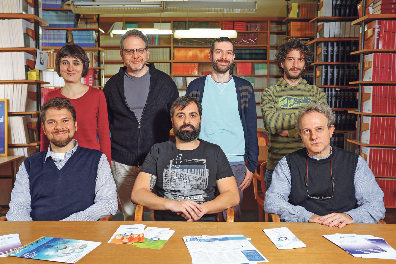 U gornjem redu: Aurora Ponzi, Marco Giampaolo, Luca Grisanti, Jahmall Matteo Brisanti, u donjem redu: Fabio Franchini, Alessio Maiezza i Stefano Mezasalma