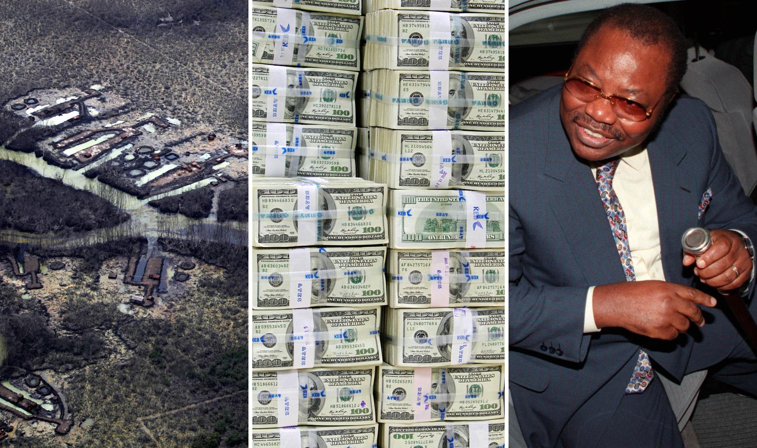 Ilustracija: Nafta u Nigeriji, novčanice od 100 dolara i Dan Etete, bivši ministar za naftu u Nigeriji