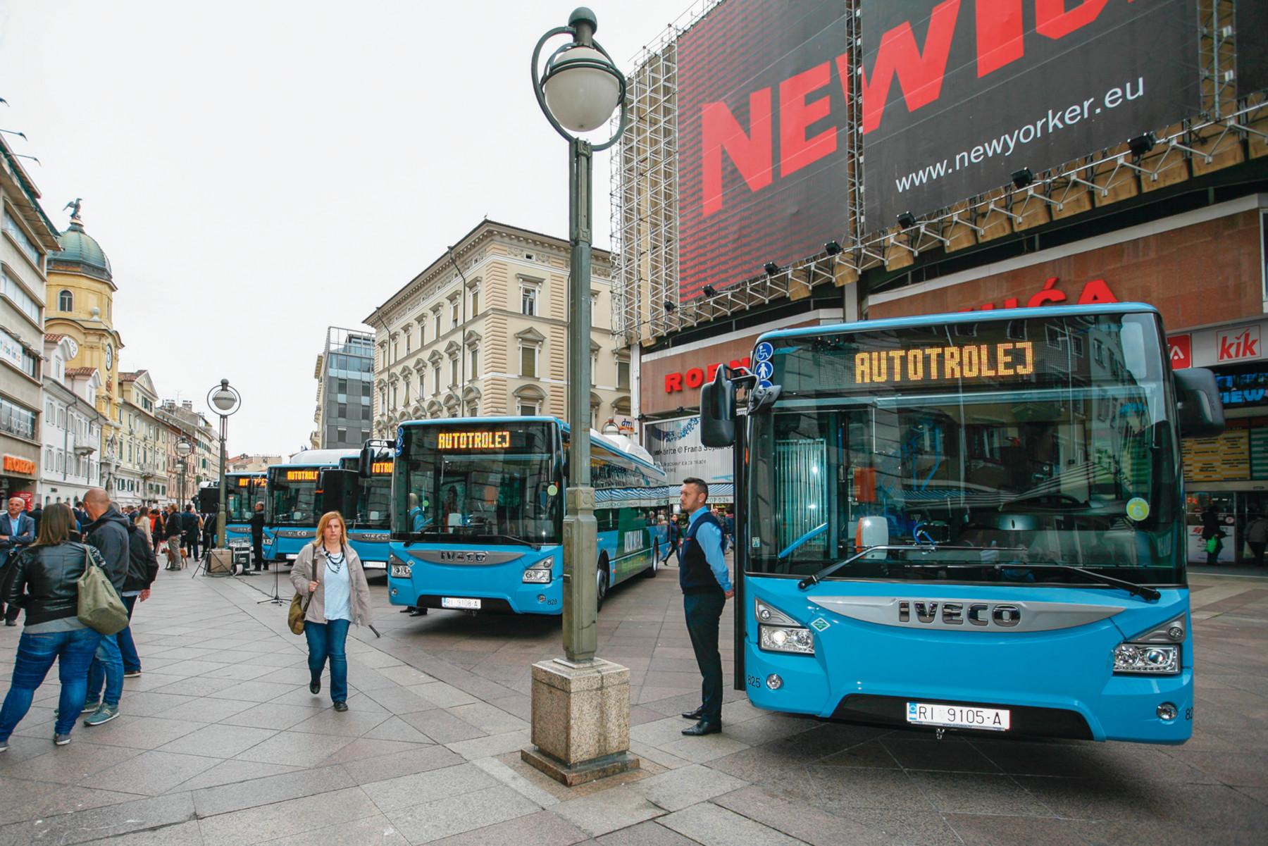 Predstavljanje autobusa na prirodni plin u Rijeci