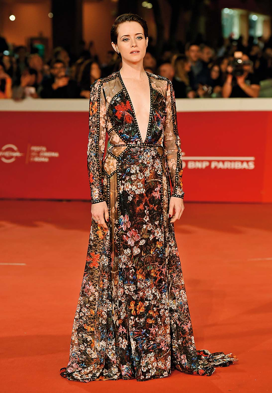 ROME, ITALY - OCTOBER 24:  Claire Foy walks the red carpet ahead of the