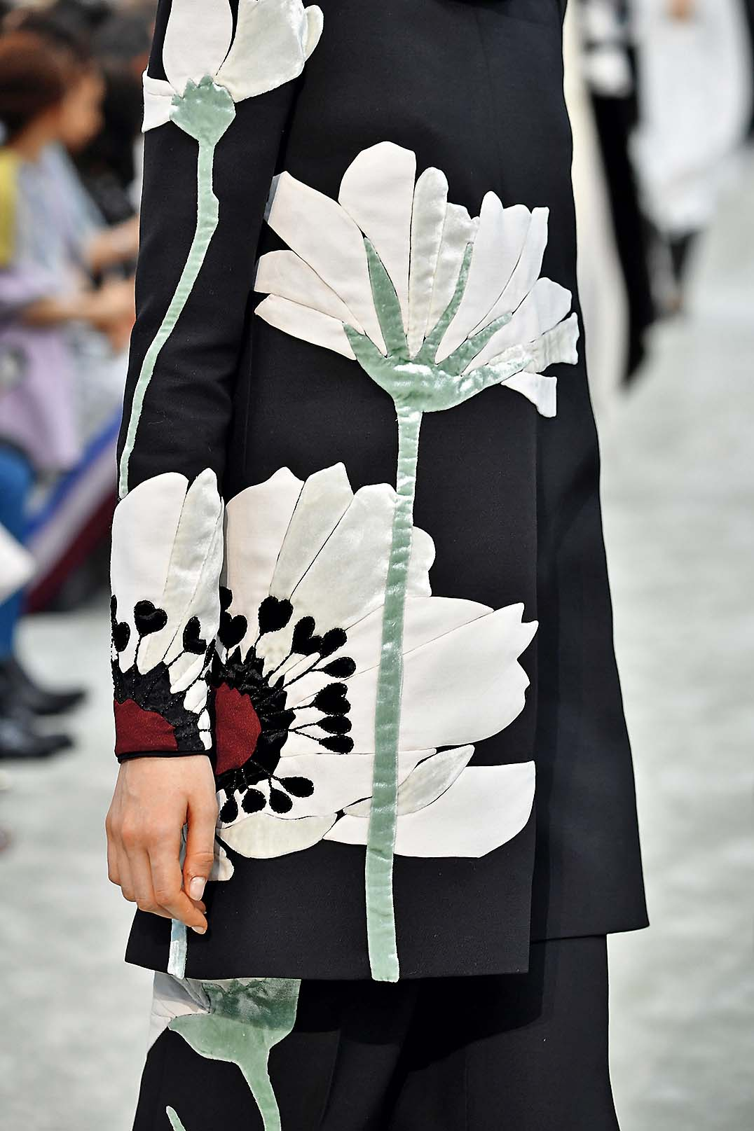 PARIS, FRANCE - MARCH 04:  A model, fashion detail, walks the runway during the Valentino show as part of the Paris Fashion Week Womenswear Fall/Winter 2018/2019 on March 4, 2018 in Paris, France.  (Photo by Pascal Le Segretain/Getty Images)