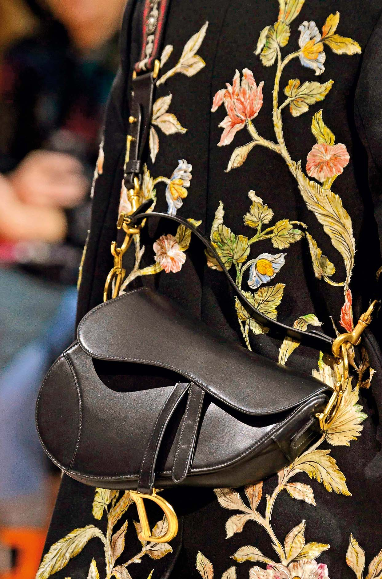 Model on the catwalk, bag detail Christian Dior show, Detail, Fall Winter 2018, Paris Fashion Week, France - 27 Feb 2018, Image: 364591048, License: Rights-managed, Restrictions: , Model Release: no, Credit line: Profimedia, TEMP Rex Features