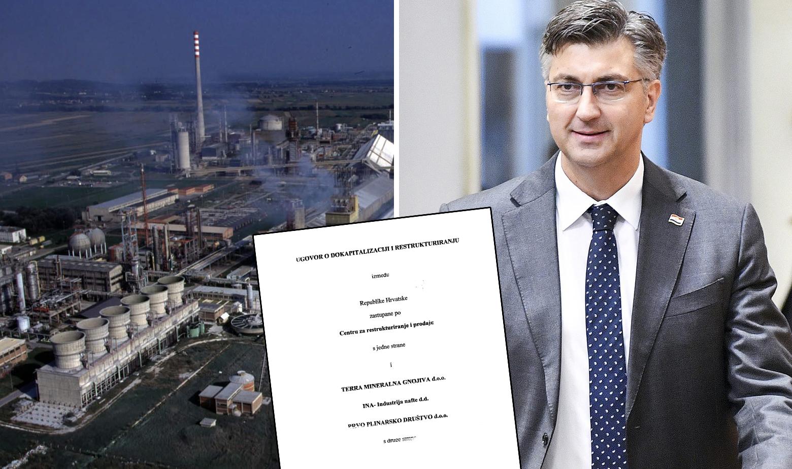 Petrokemija, Andrej Plenković i ugovor o dokapitalizaciji Petrokemije