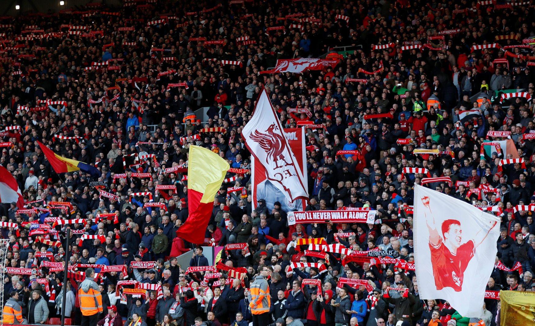 Navijači Liverpoola na Anfieldu