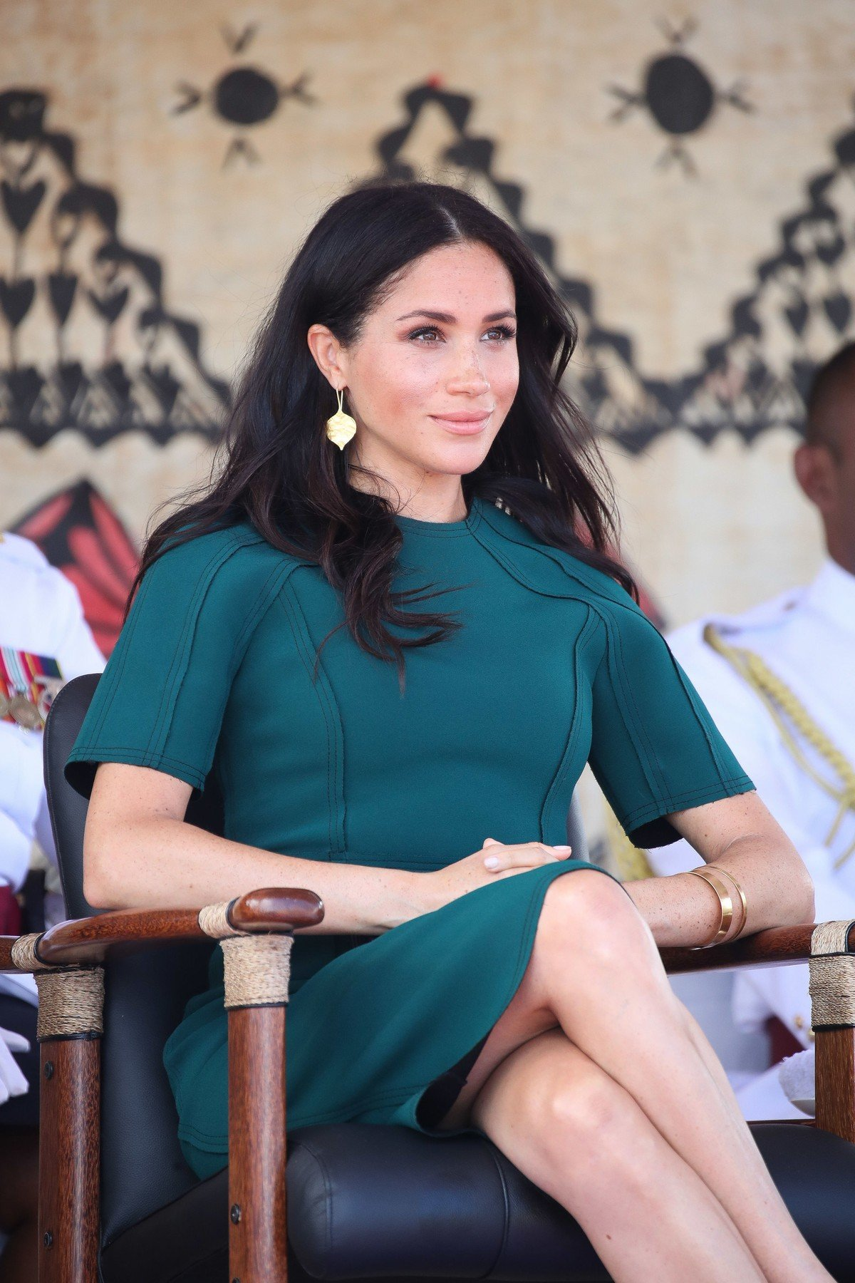 The Duchess of Sussex attends the unveiling of a statue in honour of Sergeant Talaiasi Labalaba in Nadi, western Fiji, on the third day of the royal couple's visit to the country., Image: 392560429, License: Rights-managed, Restrictions: , Model Release: no, Credit line: Profimedia, Press Association