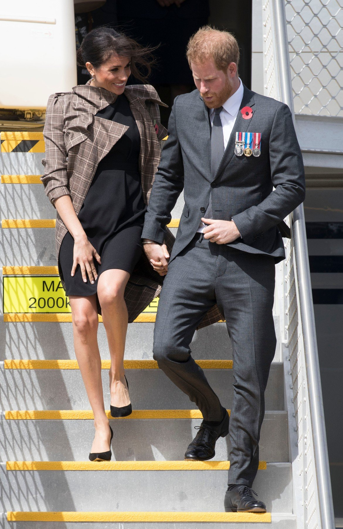 Prince Harry and Meghan Duchess of Sussex arriving in Wellington airport, New Zealand, where they met New Zealand Invictus Games competitors, on day thirteen of their Royal Tour Prince Harry and Meghan Duchess of Sussex tour of New Zealand - 28 Oct 2018, Image: 392935293, License: Rights-managed, Restrictions: , Model Release: no, Credit line: Profimedia, TEMP Rex Features