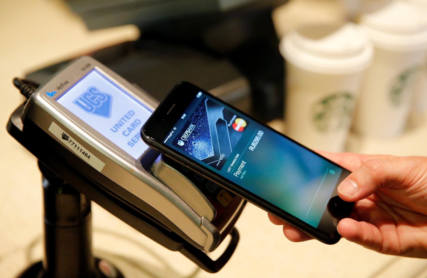 Plaćanjem pametnim telefonom, ilustracija