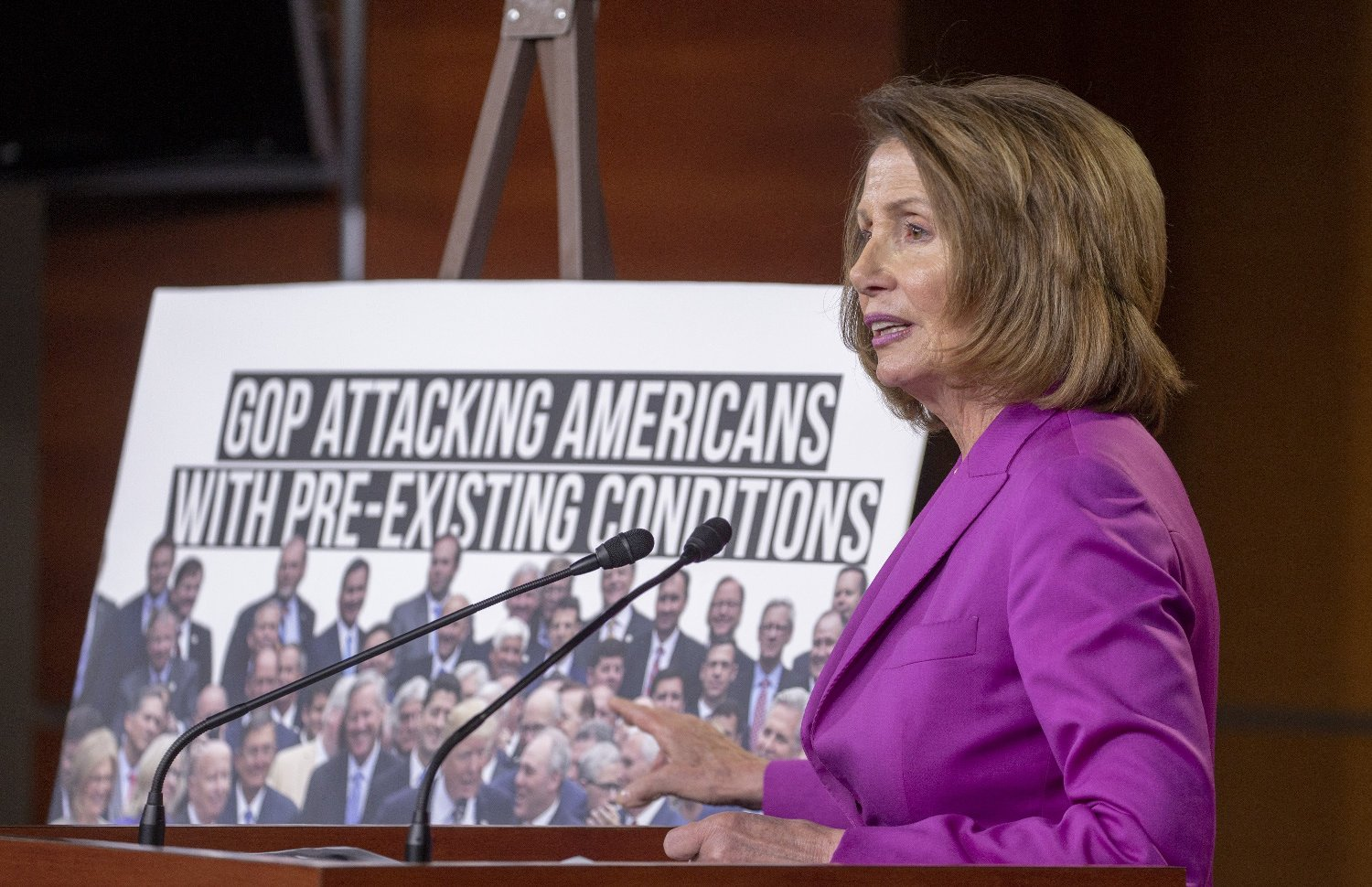 Minority Leader Nancy Pelosi speaks during her weekly press conference on June 21, 2018 on Capital Hill in Washington, DC  Photo by /UPI, Image: 375628301, License: Rights-managed, Restrictions: , Model Release: no, Credit line: Profimedia, UPI