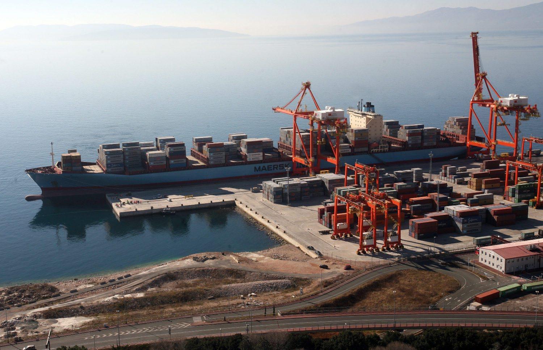 Brod Gerda Maersk u riječkoj luci