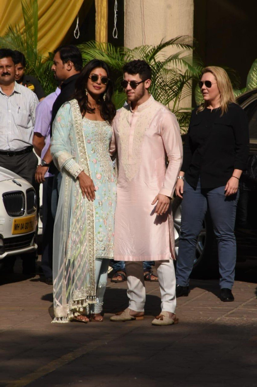 EXCLUSIVE: Priyanka Chopra and Nick Jonas seen ahead of their wedding in Mumbai. 28 Nov 2018, Image: 398848283, License: Rights-managed, Restrictions: World Rights, Model Release: no, Credit line: Profimedia, Mega Agency