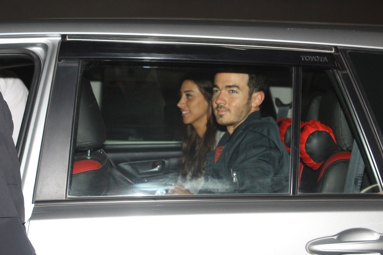 EXCLUSIVE: Kevin Jonas and wife Danielle Jonas arrive in India early this morning (November 29) for brother Nick Jonas' upcoming wedding to Priyanka Chopra. The couple were all smiles as they were driven off in a car at the airport in Mumbai. 29 Nov 2018, Image: 399013530, License: Rights-managed, Restrictions: NO India, Model Release: no, Credit line: Profimedia, Mega Agency