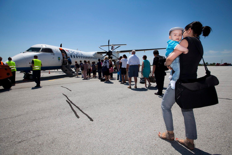 Ukrcaj putnika u avion, ilustracija