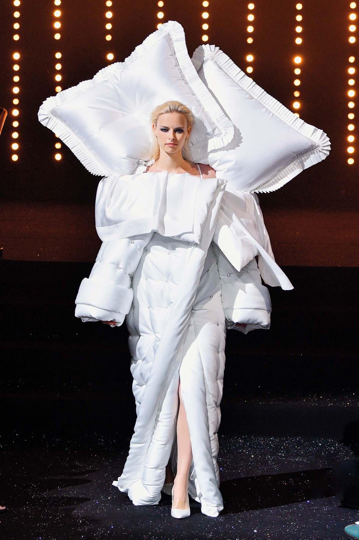 PARIS, FRANCE - JULY 04:  A model walks the runway during the Viktor