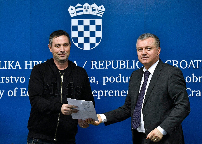 Dodjela ugovora po programu Razvoj zadružnog poduzetništva: Ivan Božić i Darko Horvat