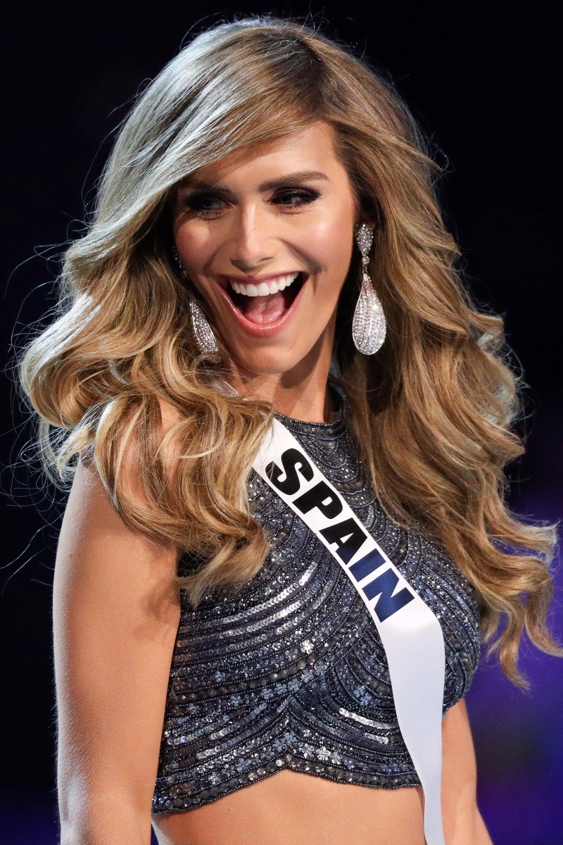 Miss Spain Angela Ponce smiles during the Miss Universe 2018 preliminary round in Bangkok, Thailand, December 13, 2018. REUTERS/Athit Perawongmetha