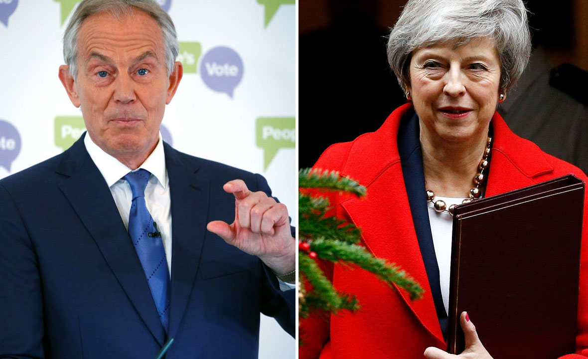 Tony Blair (lijevo) i Theresa May (desno)