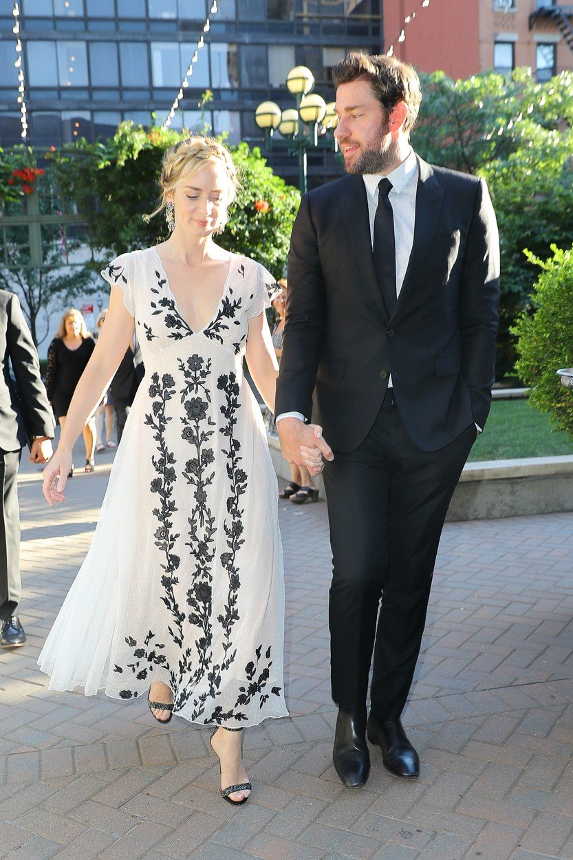 Emily Blunt and John Krasinski seen holding hands while attending at the 12th Annual AIS Freeing Voices Changing Lives Gala in New York City. 09 Jul 2018, Image: 377367201, License: Rights-managed, Restrictions: World Rights, Model Release: no, Credit line: Profimedia, Mega Agency