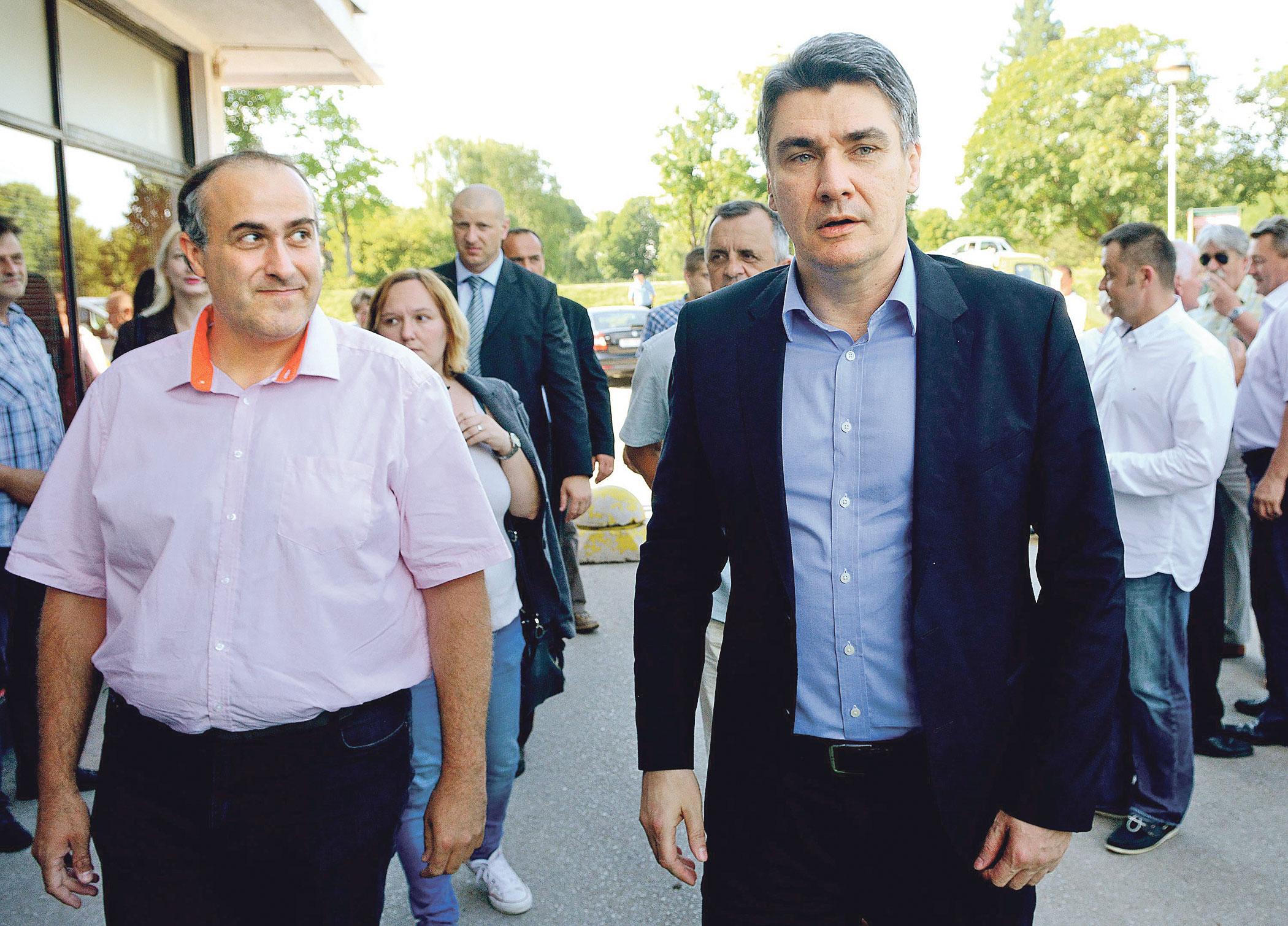 Žarko Latković (lijevo) u društvu sa Zoranom Milanovićem (desno)