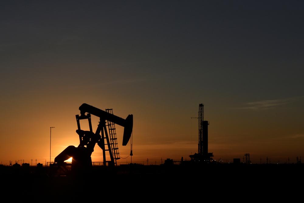 Ilustracija, naftna bušotina