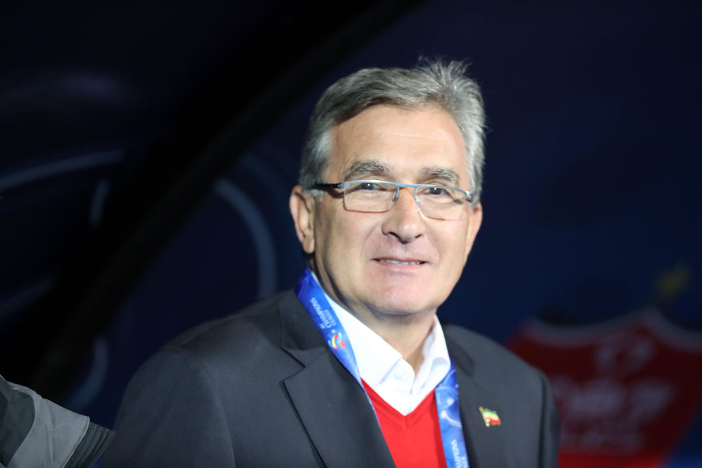 TEHRAN, IRAN - NOVEMBER 10: Manager and Head coach of Persepolis Branko Ivankovic looks on during the AFC Champions League final second leg match between Persepolis and Kashima Antlers at Azadi Stadium on November 10, 2018 in Tehran, Iran. (Photo by Amin M. Jamali/Getty Images)