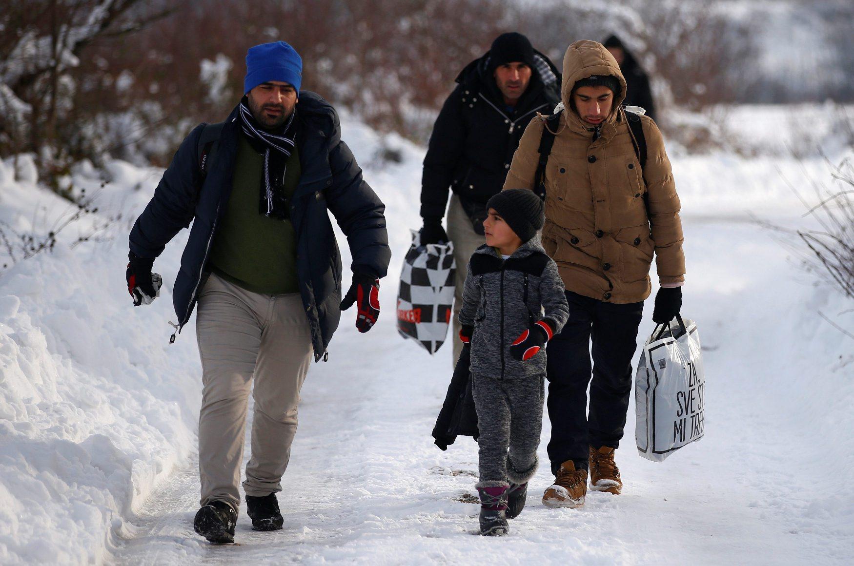 Ilustracija: Migranti na ruti Bihać - Plješivica