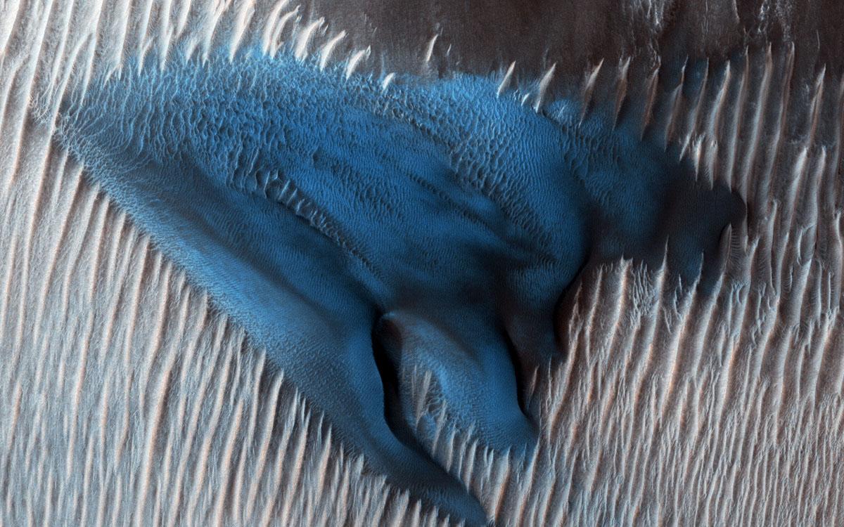 Plava pješčana dina na Marsu
