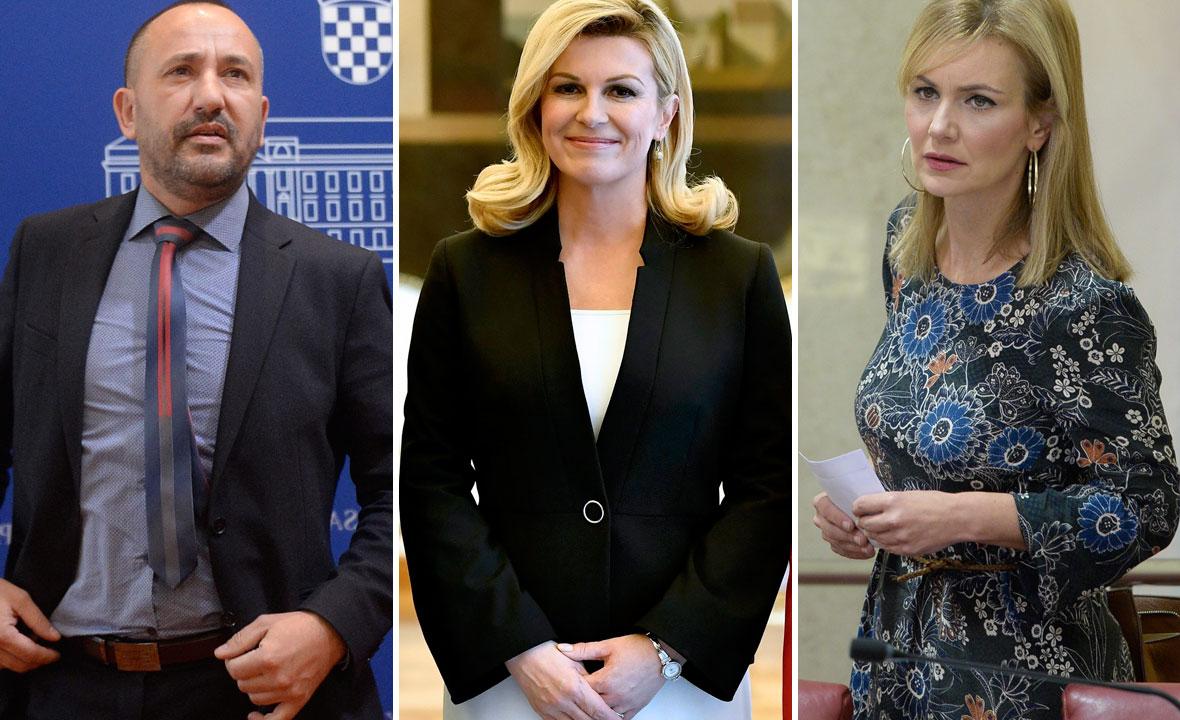 Hrvoje Zekanović, Kolinda Grabar Kitarović i Bruna Esih