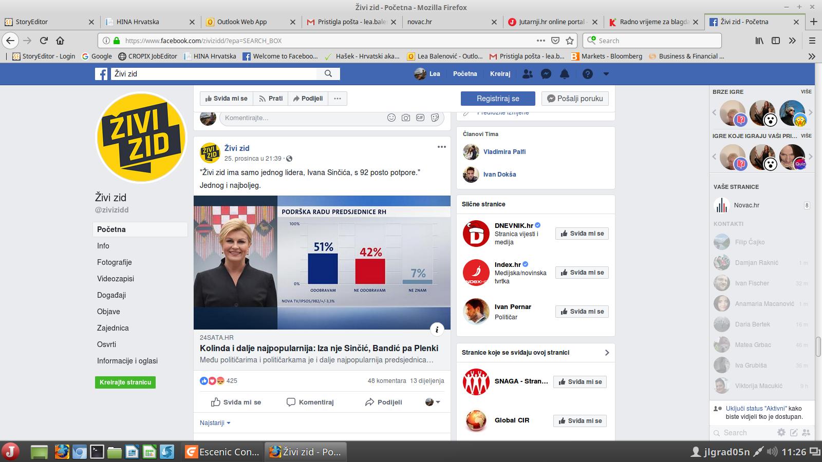 Facebook stranica Živog zida