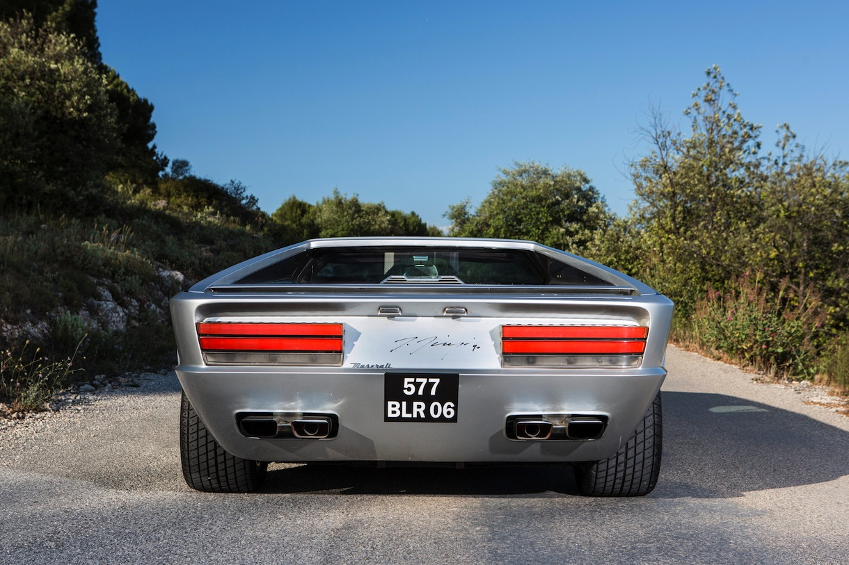 A unique Maserati regarded as one of the most remarkable designs of the 20th Century is expected to sell for £3 million. See swns story SWMASER. The Maserati Boomerang was a one-off prototype designed by Giorgetto Giugiaro, the man who would later come up with the iconic Mk1 Volkswagen Golf. It was unveiled in 1971 and, a year later, shown off as a fully operational supercar with a 300bhp V8 engine. The one-off car, with its geometric shapes and ruler straight lines, is supposed to be capable of around 180mph. But with just one in existence it is unlikely the next owner will want to drive the madcap motor at this speed - with it now valued at around £3 million. British auction house Bonhams will be selling the Boomerang in September at its Chantilly sale in France., Image: 251387882, License: Rights-managed, Restrictions: follow us on twitter - @swns browse our website - swns.com email pix@swns.com, Model Release: no, Credit line: Profimedia, SWNS