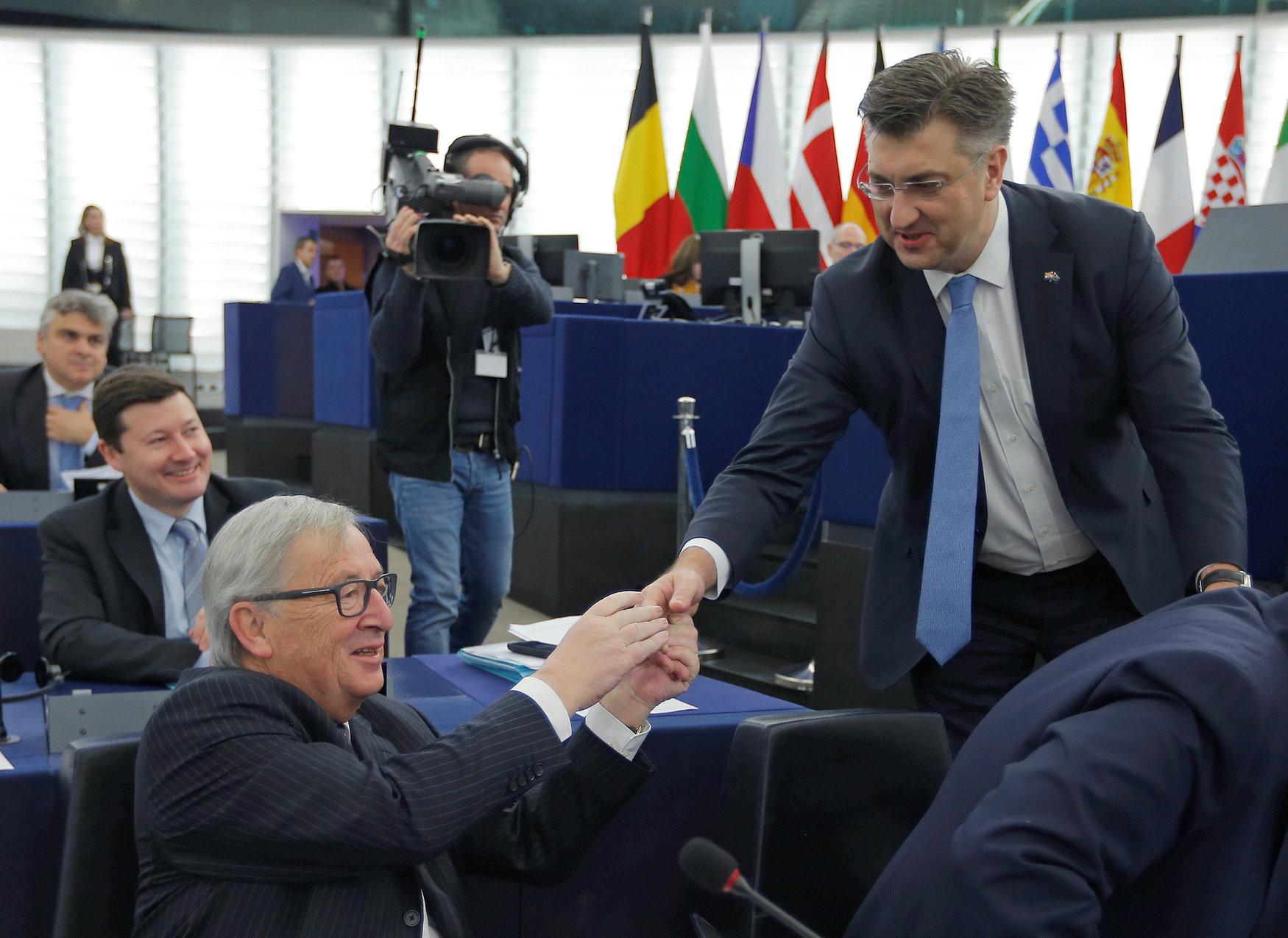 Hrvatski premijer Andrej Plenković i predsjednik Europske komisije Jean-Claude Juncker
