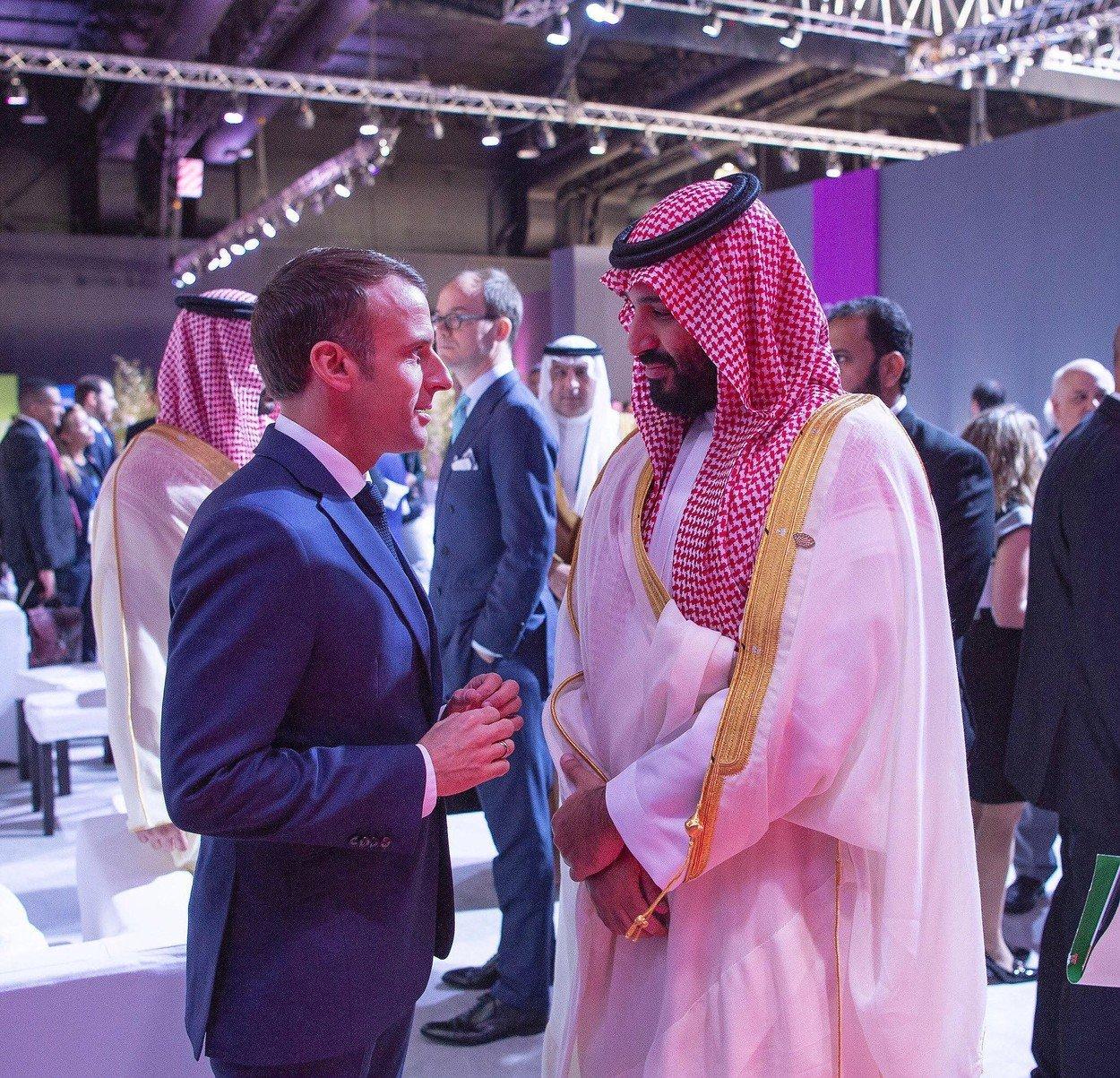 Princ prijestolonasljednik Saudijske Arabije Mohammed bin Salman i predsjednik Francuske Emmanuel Macrona