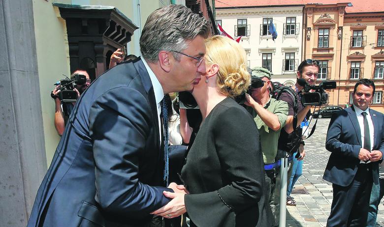Predsjednik Vlade Andrej Plenković i predsjednica Kolinda Grabar-Kitarović