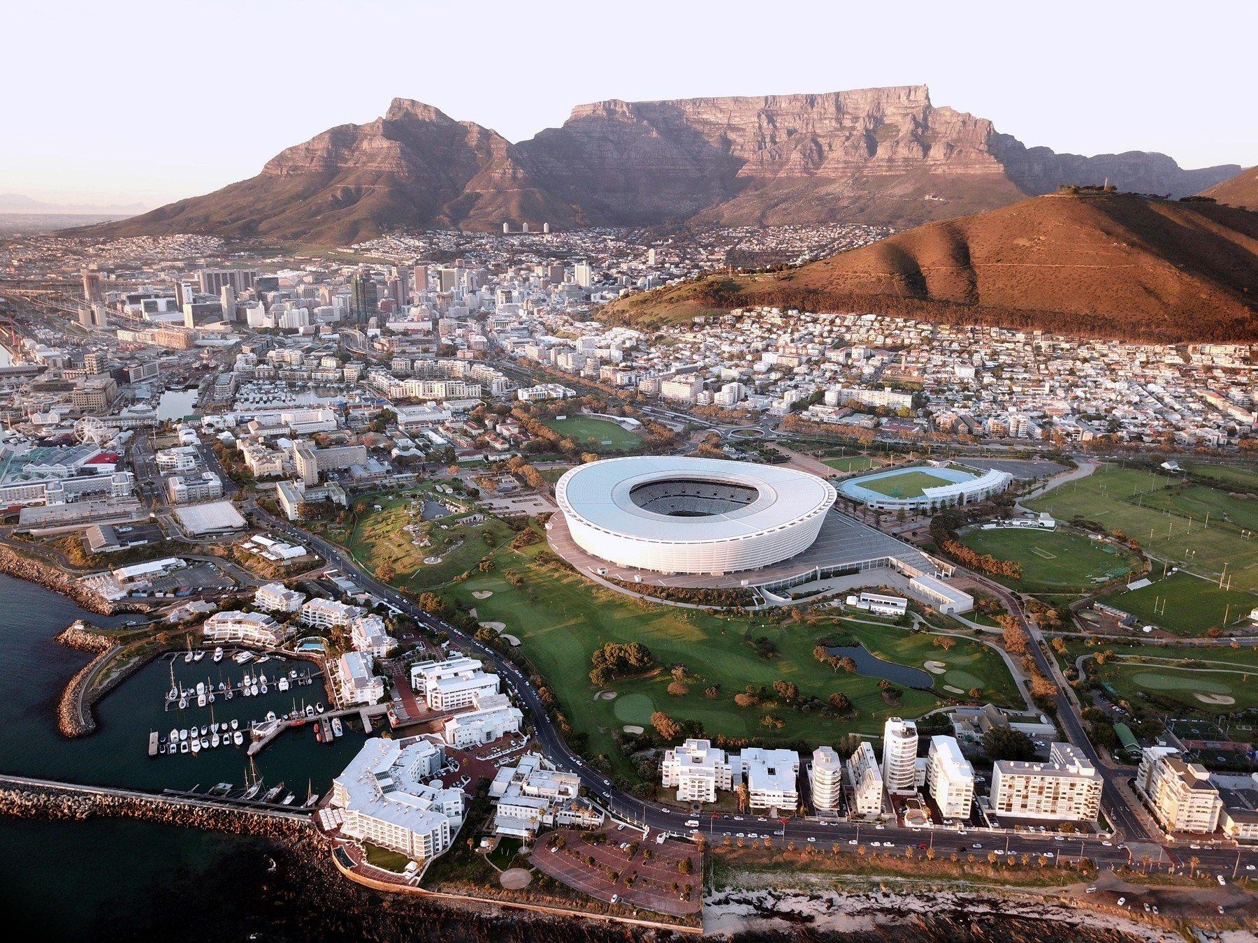 Cape Town iz zraka