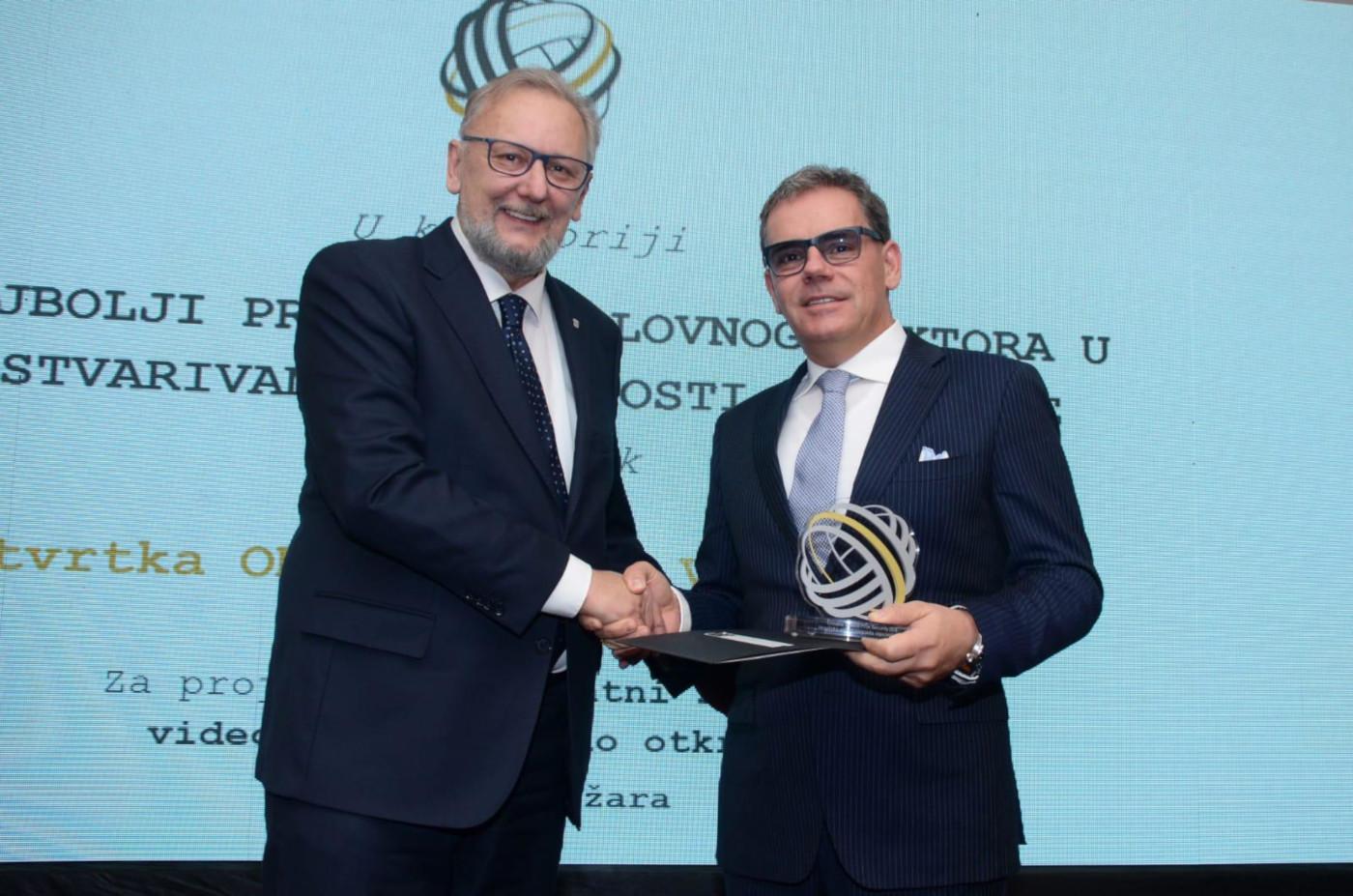 Davor Božinović, ministar unutarnjih poslova i Mate Botica, član uprave i direktor tvrtke Odašiljači i veze