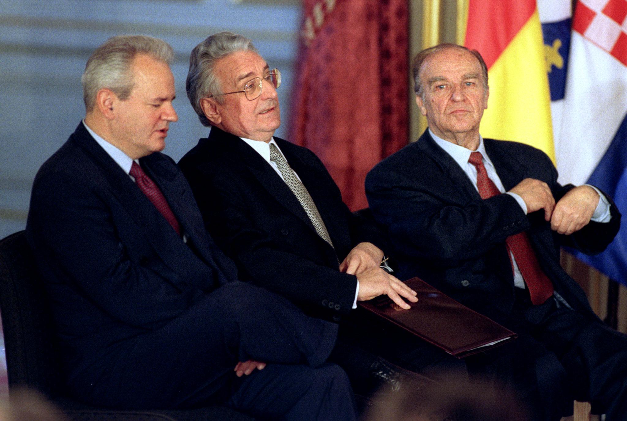 Slobodan Milošević i Franjo Tuđman
