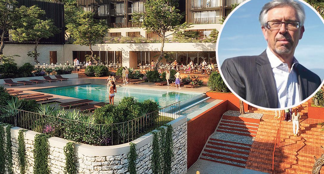 Daniel Truchi, francuski bankar i investitor, upravo je dobio građevinsku dozvolu za gradnju luksuznog hotela u Uvali Maslinica na Hvaru, vrijednost investicije 30 milijuna eura (render za hotel na Hvaru)