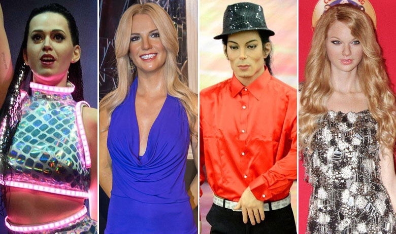 Katy Perry, Britney Spears, Michael Jackson, Taylor Swift
