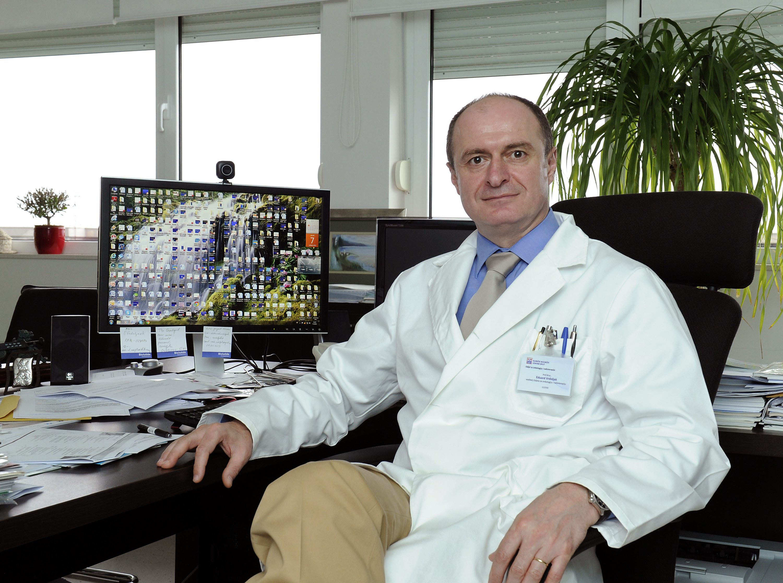 Split, 070513. Dr. Eduard Vrdoljak, sef onkologije u KBC Split. Foto: Jadran Babic / CROPIX