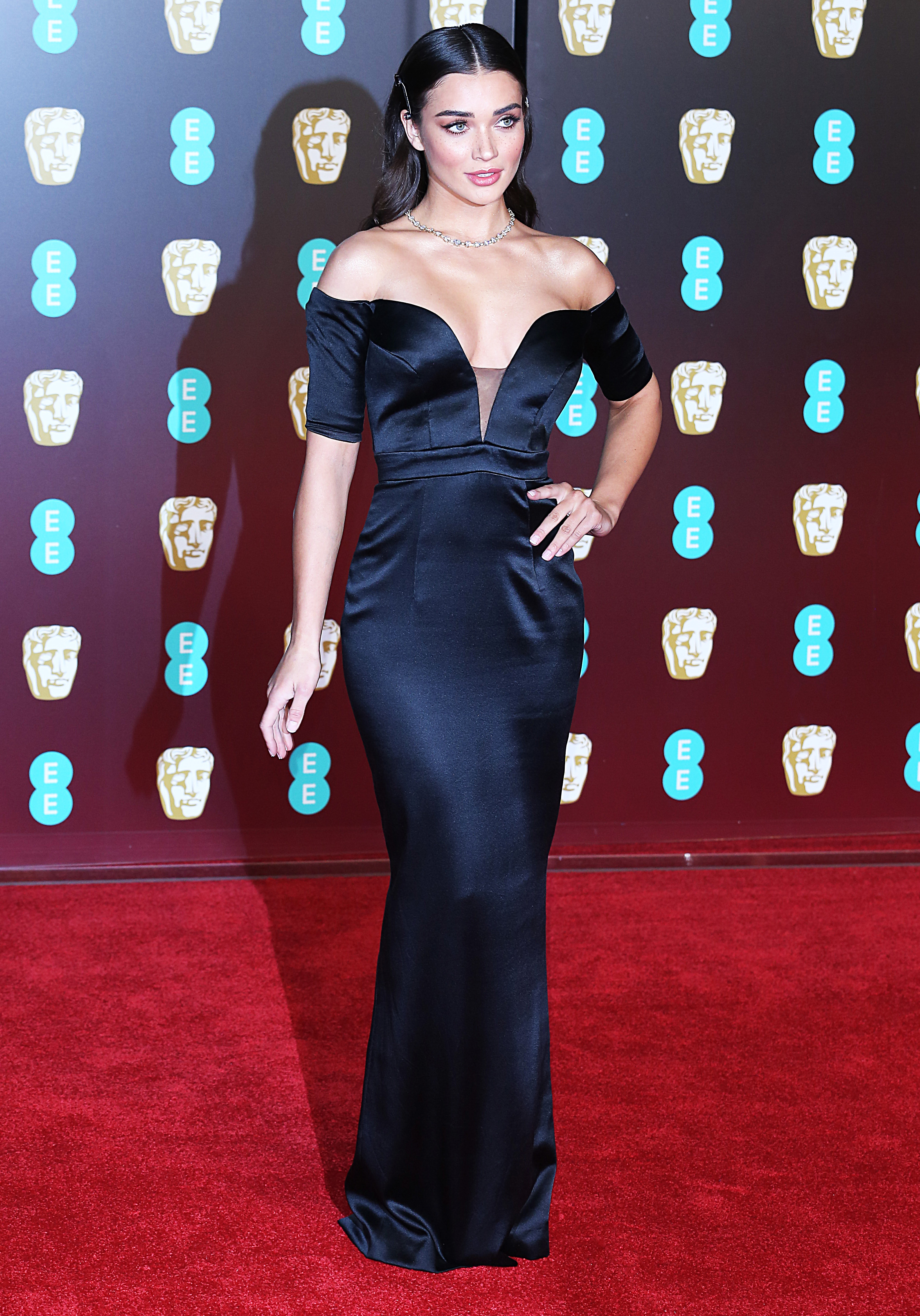 EE British Academy Film Awards 2018 (BAFTAs), Royal Albert Hall, London UK, 18 February 2018, Photo by Brett D. Cove <P> Pictured: Amy Jackson <B>Ref: SPL1661266  190218  </B><BR/> Picture by: Brett D. Cove / Splash News<BR/> </P><P> <B>Splash News and Pictures</B><BR/> Los Angeles:310-821-2666<BR/> New York:212-619-2666<BR/> London:870-934-2666<BR/> <span id=