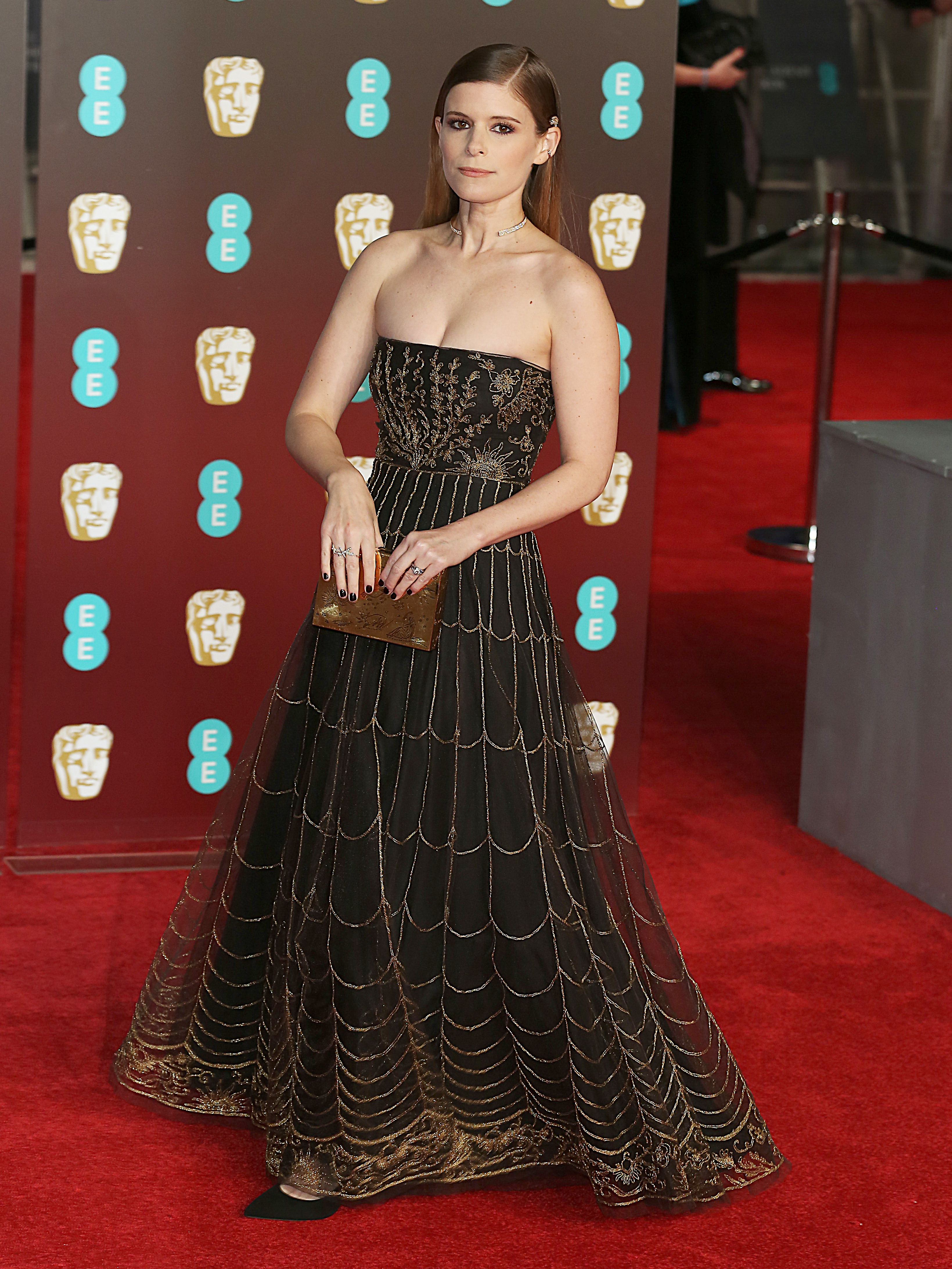 EE British Academy Film Awards 2018 (BAFTAs), Royal Albert Hall, London UK, 18 February 2018, Photo by Brett D. Cove <P> Pictured: Kate Mara <B>Ref: SPL1661266  190218  </B><BR/> Picture by: Brett D. Cove / Splash News<BR/> </P><P> <B>Splash News and Pictures</B><BR/> Los Angeles:310-821-2666<BR/> New York:212-619-2666<BR/> London:870-934-2666<BR/> <span id=