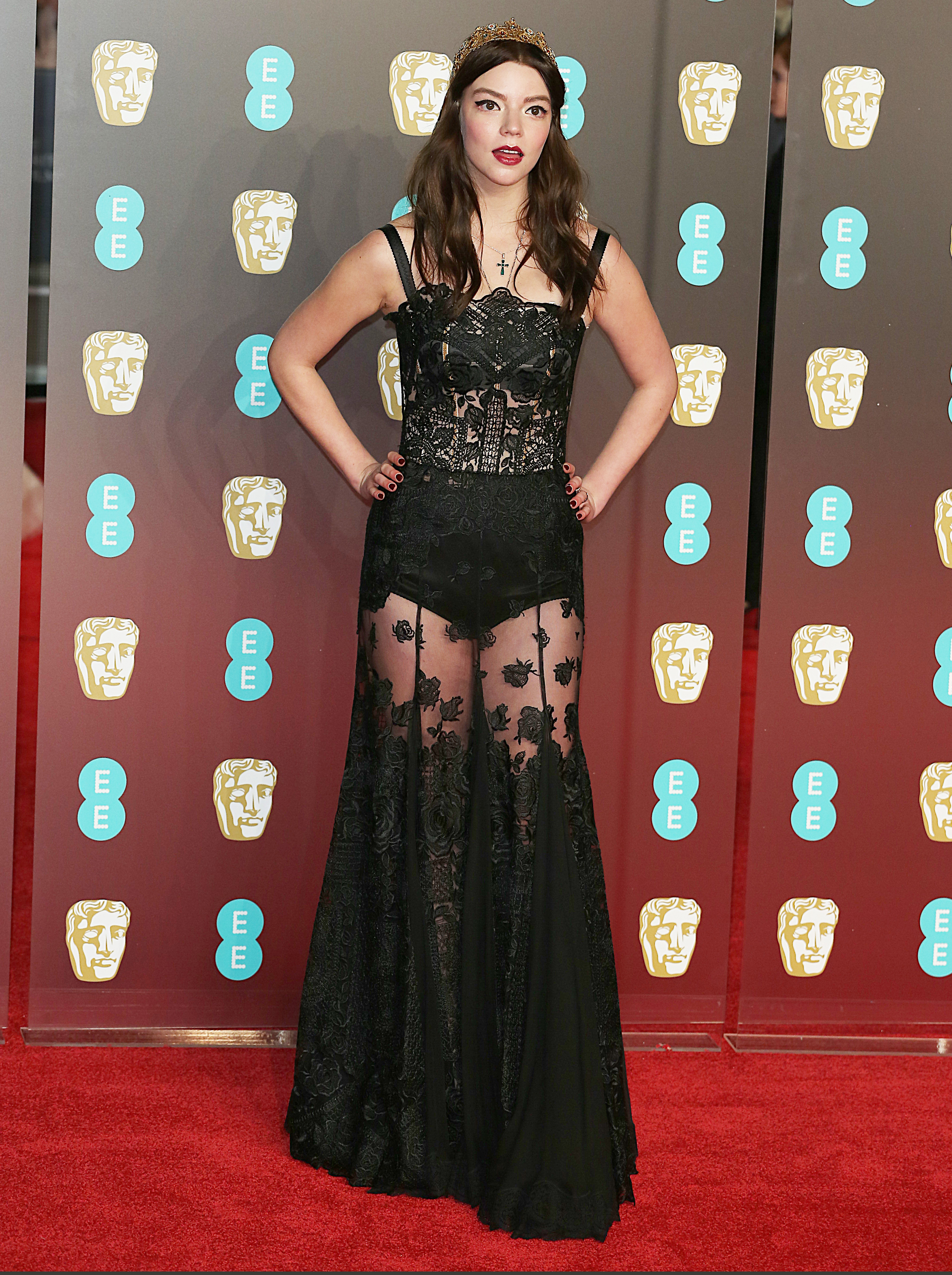 EE British Academy Film Awards 2018 (BAFTAs), Royal Albert Hall, London UK, 18 February 2018, Photo by Brett D. Cove <P> Pictured: Anya Taylor-Joy <B>Ref: SPL1661269  190218  </B><BR/> Picture by: Brett D. Cove / Splash News<BR/> </P><P> <B>Splash News and Pictures</B><BR/> Los Angeles:310-821-2666<BR/> New York:212-619-2666<BR/> London:870-934-2666<BR/> <span id=