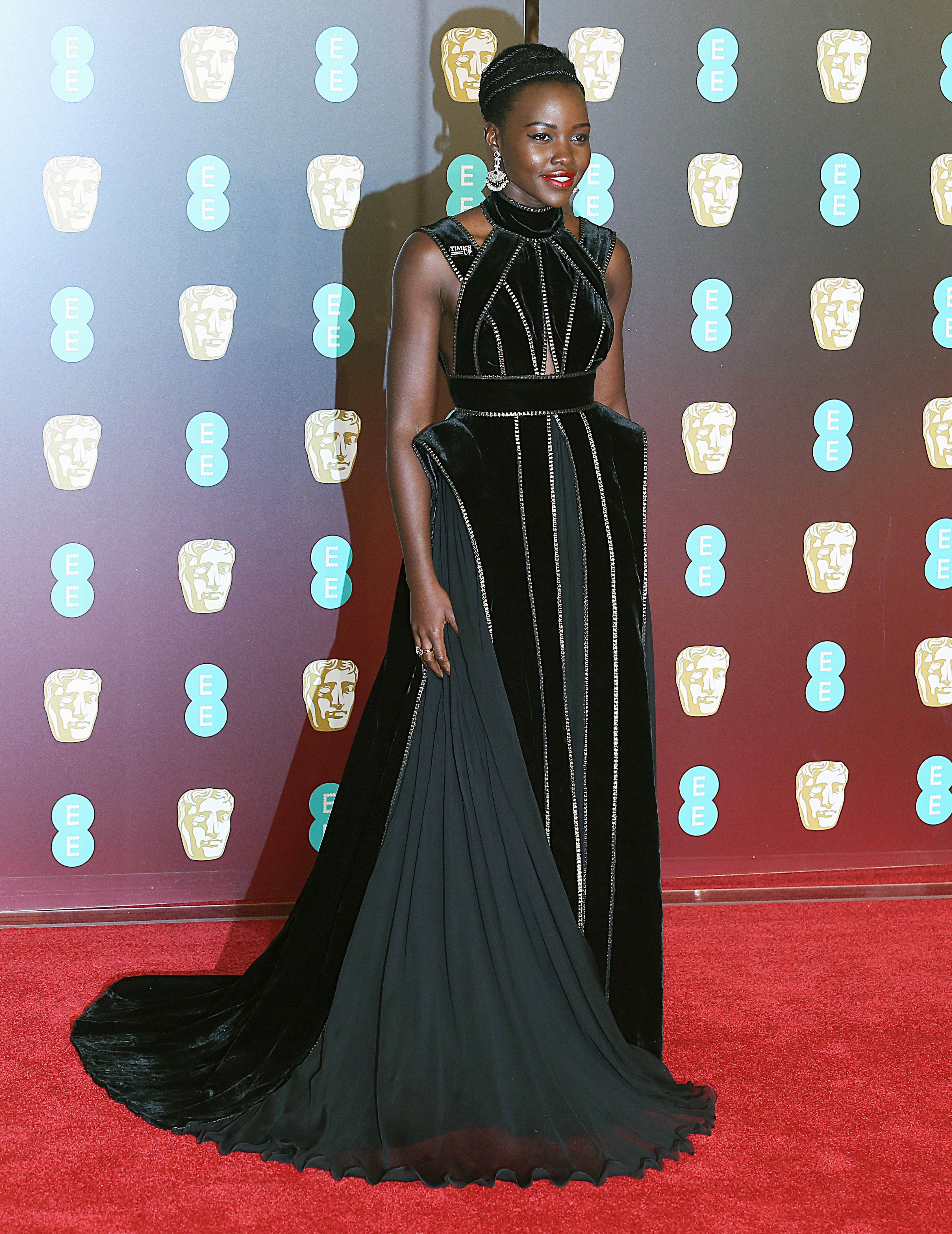 EE British Academy Film Awards 2018 (BAFTAs), Royal Albert Hall, London UK, 18 February 2018, Photo by Brett D. Cove <P> Pictured: Lupita Nyong'o <B>Ref: SPL1661269  190218  </B><BR/> Picture by: Brett D. Cove / Splash News<BR/> </P><P> <B>Splash News and Pictures</B><BR/> Los Angeles:310-821-2666<BR/> New York:212-619-2666<BR/> London:870-934-2666<BR/> <span id=