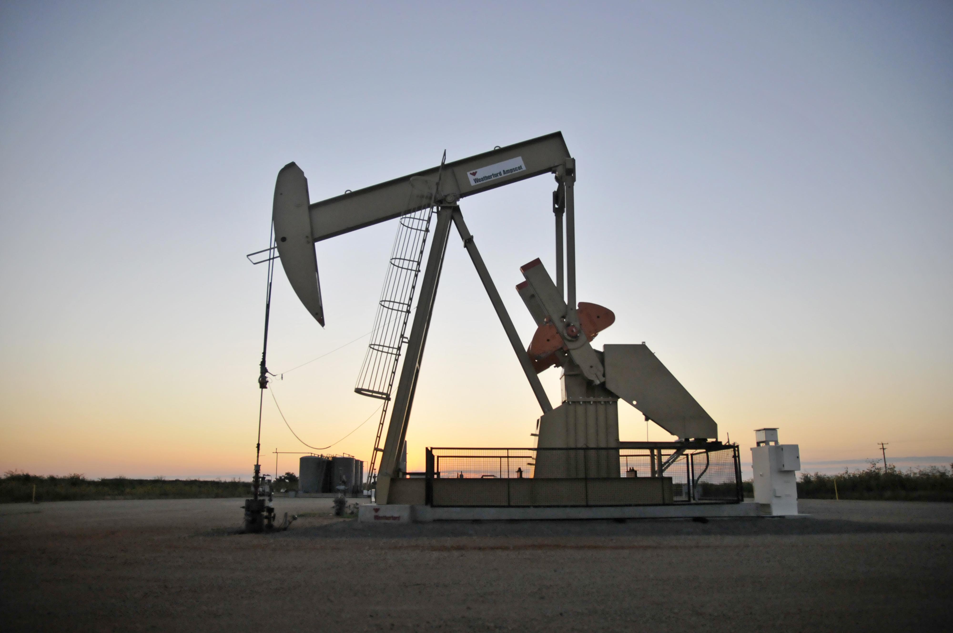 Ilustracija: Crpljenje nafte u Oklahomi