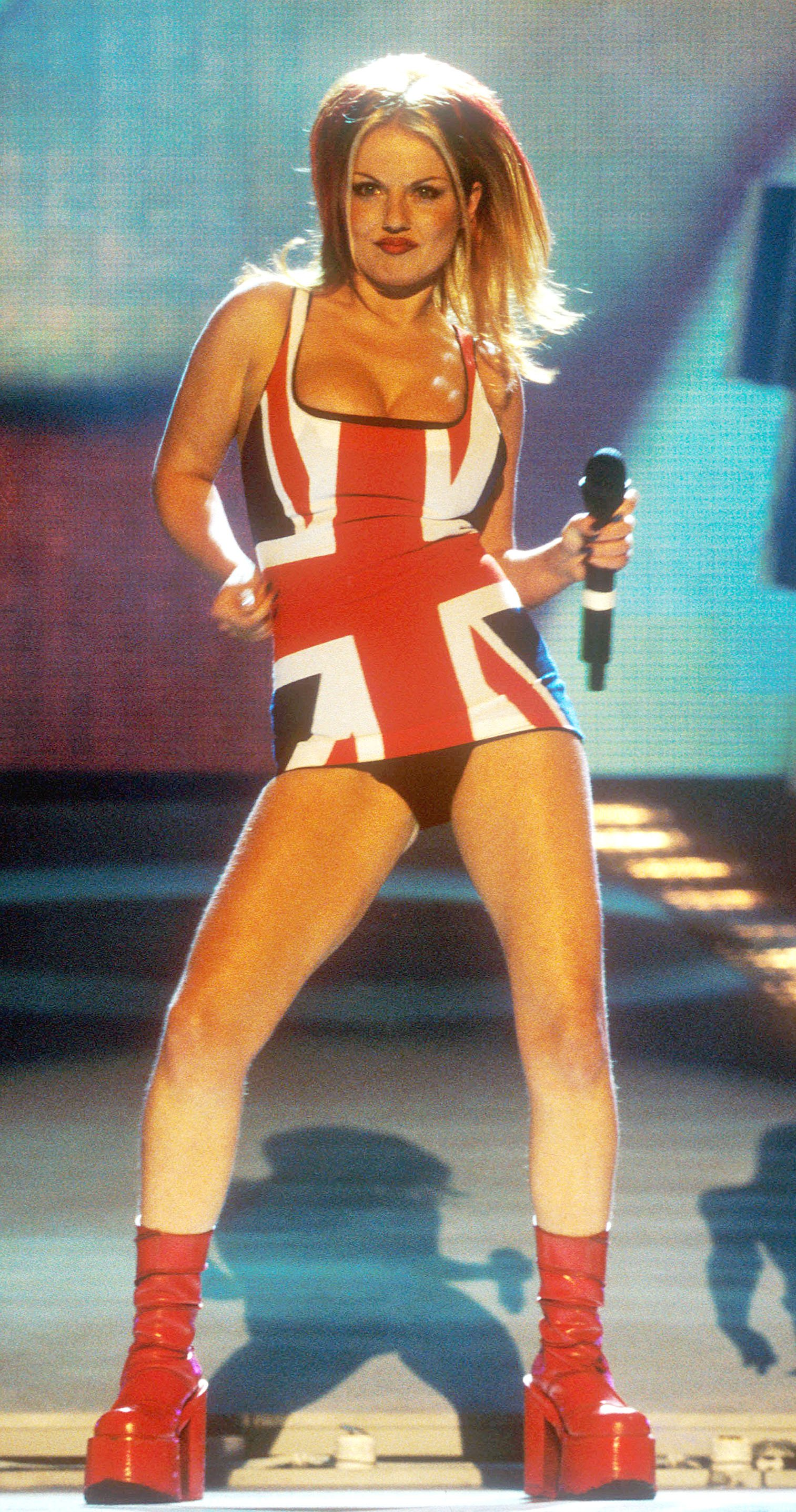 London. Geri Halliwell performs at the Brit Awards. Date: 1997. Ref: LMK25-55-070405 Picture by Trevor Moore/Landmark Media, Image: 97252984, License: Rights-managed, Restrictions: WORLD WIDE RIGHTS, Model Release: no, Credit line: Profimedia, Newscom
