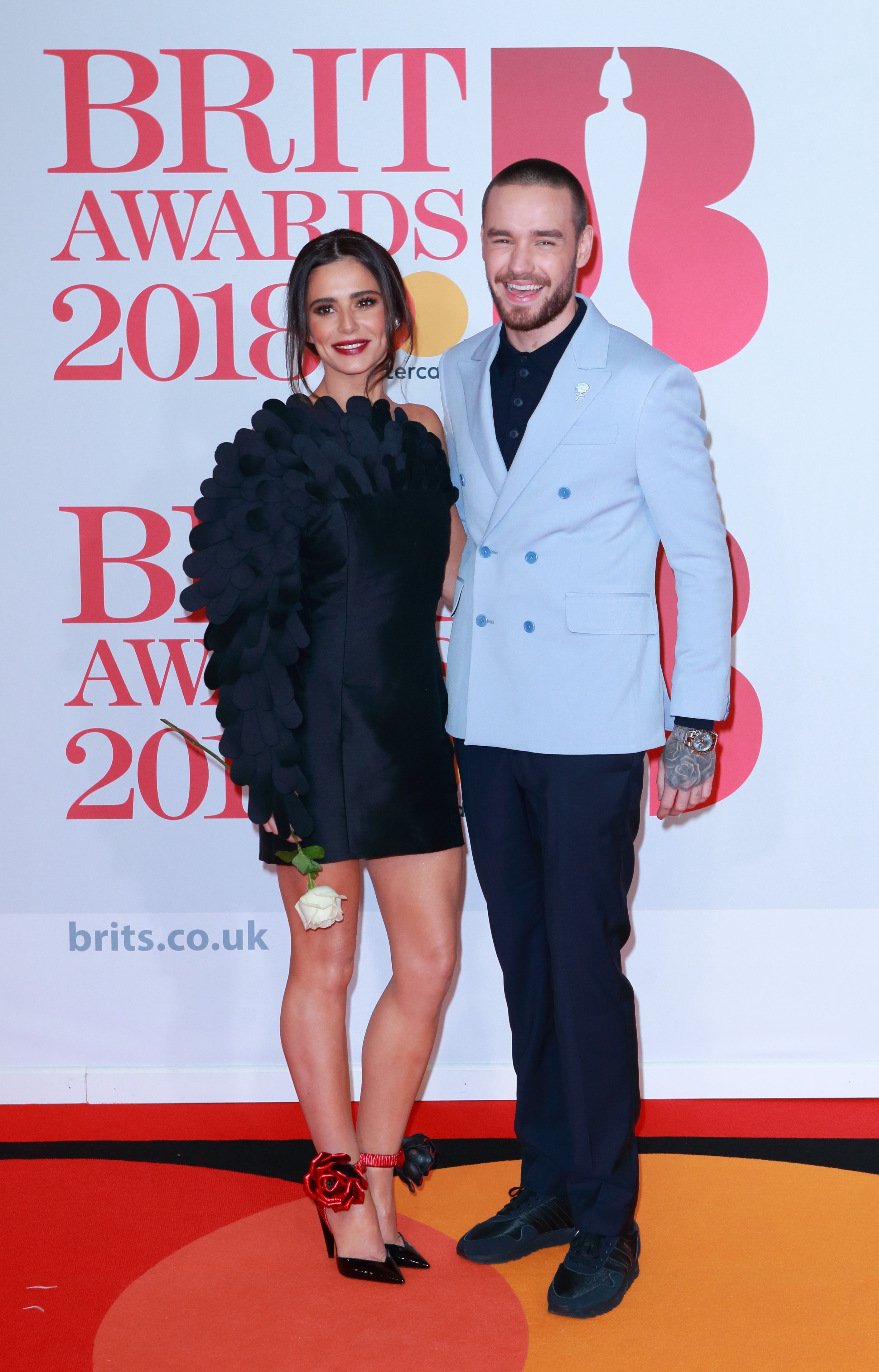 Cheryl Cole and Liam Payne arrive on the red carpet for The BRIT Awards 2018 at The O2 Arena in London, England.  <P> Pictured: Cheryl Cole and Liam Payne <B>Ref: SPL1662519  210218  </B><BR/> Picture by: Flynet - Splash News<BR/> </P><P> <B>Splash News and Pictures</B><BR/> Los Angeles:	310-821-2666<BR/> New York:	212-619-2666<BR/> London:	870-934-2666<BR/> <span id=