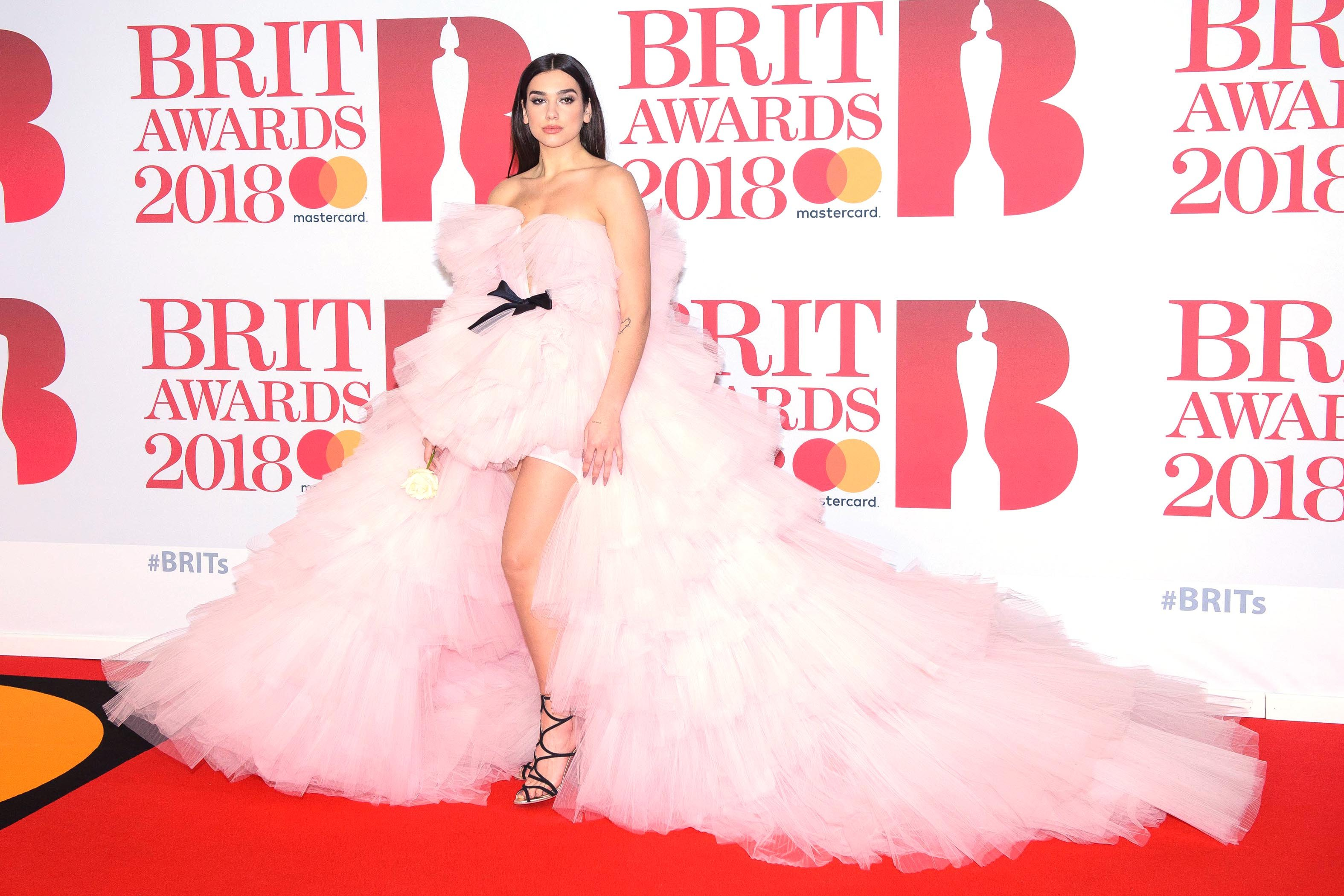 , London, England - 20180221 - The BRIT Awards 2018 at The O2 Arena  -PICTURED: Dua Lipa -, Image: 363972956, License: Rights-managed, Restrictions: , Model Release: no, Credit line: Profimedia, INSTAR Images