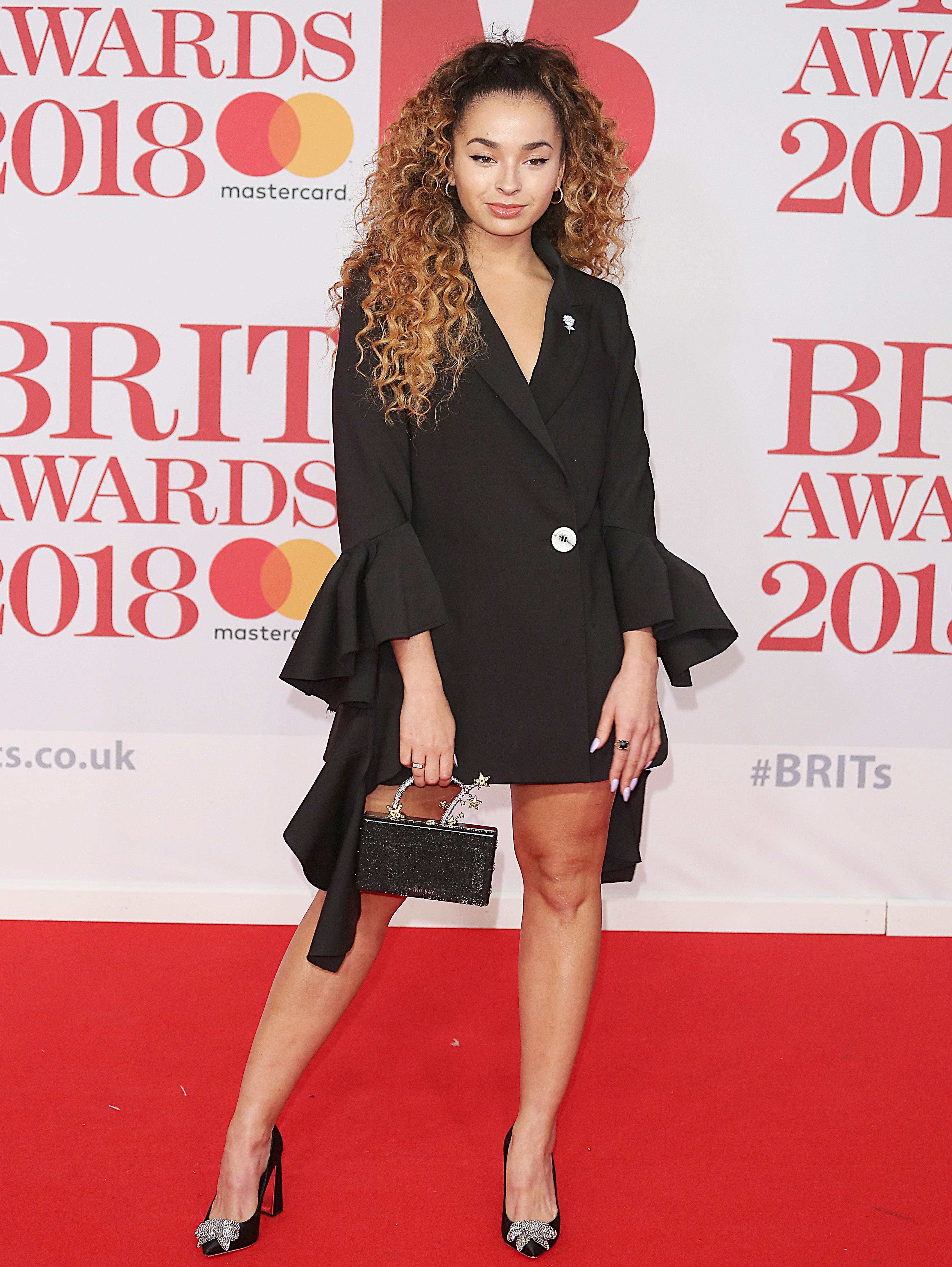 The BRIT Awards 2018, 02 Arena, London UK, 21 February 2018, Photo by Brett D. Cove <P> Pictured: Ella Eyre <B>Ref: SPL1662674  220218  </B><BR/> Picture by: Brett D. Cove / Splash News<BR/> </P><P> <B>Splash News and Pictures</B><BR/> Los Angeles:	310-821-2666<BR/> New York:	212-619-2666<BR/> London:	870-934-2666<BR/> <span id=