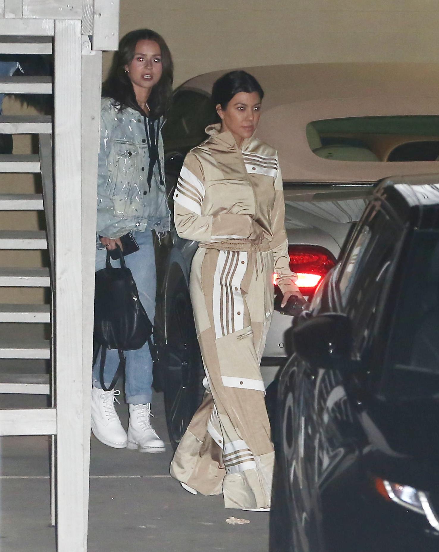 Just back from skiing, Kourtney Kardashian looks like she forgot to change going to church feb 21, 2018  ROL/X17online.com